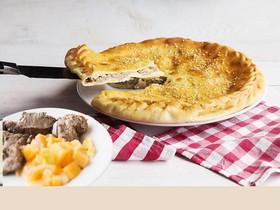 Пирог с бараниной и тыквой - Фото