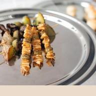 Шашлычок из кальмара с оливкой(за сутки) Фото
