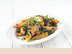 Картофельные дольки с чесноком - Фото