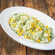 Рис с кукурузой и зеленью Фото