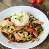 Курица в соусе терияки с рисом Фото