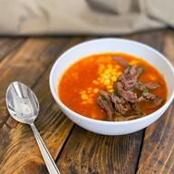 Суп с кукурузой и пряной говядиной Фото