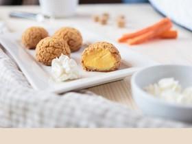 Пирожные шу с сырно-морковным кремом - Фото