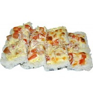 Суши-пицца с тунцом Фото
