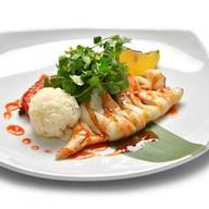 Кальмары с овощами wok Фото