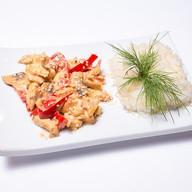 Куриное филе тори спайс с рисом Фото
