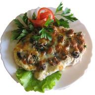 Мясо по-французски с грибами (свинина) Фото