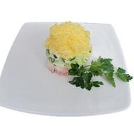 Салат-коктейль с ветчиной и сыром Фото