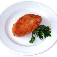 Котлета куриная с салатом из моркови Фото