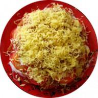 Салат с помидорами и сыром Фото