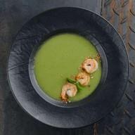 Крем-суп из лука-порей с креветками Фото