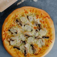 Чикен карри пицца Фото