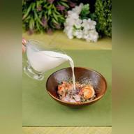 Холодный суп с морепродуктами Фото