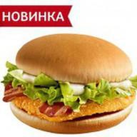 Чикенбургер с беконом Фото