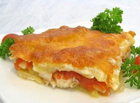 Рыба запечённая в духовке с картофелем - Фото