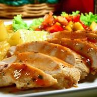 Куриные отбивные с сыром и ананасами Фото
