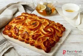 Пирог с сайрой и капустой - Фото