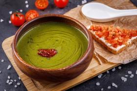 Суп-крем из шпината с брускеттой - Фото