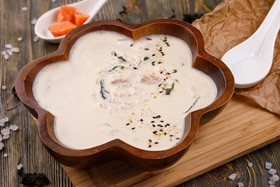 Сливочный суп с лососем - Фото
