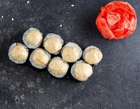 Ролл с угрем и ореховым соусом - Фото