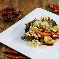 Салат овощной с морскими водорослями Фото