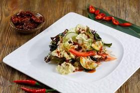 Салат овощной с морскими водорослями - Фото