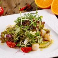 Салат с морским гребешком под соусом Фото