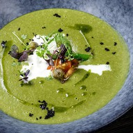 Суп-крем из шпината и спаржи Фото