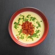 Сырный суп с беконом ланч Фото