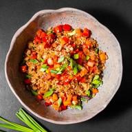 Рис чесночный с овощами Фото