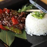 Телятина с рисом по-азиатски Фото