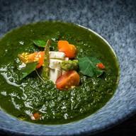 Крем-суп из шпината и спаржи Фото