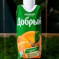 Сок Добрый апельсин с мякотью Фото