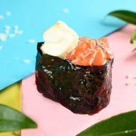 Гункан с лососем, сыр сливочный №7 Фото