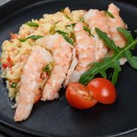 Рис в сливочном соусе с креветками Фото