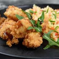 Рис в сливочном соусе с курицей терияки Фото