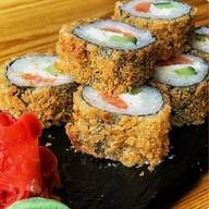 Темпура с лососем ролл Фото