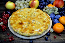 Осетинский пирог с яблоками по-домашнему - Фото
