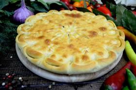Пирог с грибами, картошкой и сыром - Фото