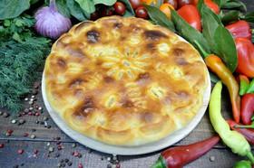 Пирог с курицей, грибами и сыром - Фото