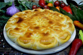 Пирог с капустой и сыром - Фото