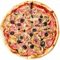 Пицца с ветчиной и шампиньонами Фото
