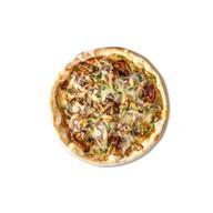 Пицца подкопченная со свининой и грибами Фото