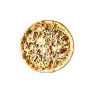 Пицца подкопченная с курицей и грибами Фото