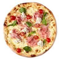 Пицца с ветчиной и ореховым кремом Фото