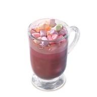 Розовое какао с зефиром Фото