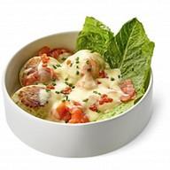 Сырники с лососем и соусом беарнез Фото