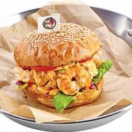 Бургер с креветкой Фото