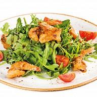 Салат с креветками и соусом Бальзамико Фото