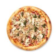 Пицца с цыпленком и соусом чимичурри Фото